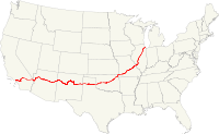 US Route66 map
