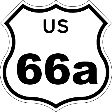 US 66a sign