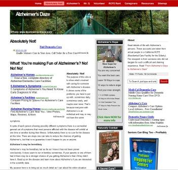alzheimersdaze.com Alzheimer's niche
