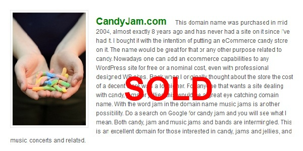 candy sold